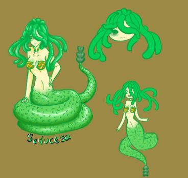 Adoptable : Snake Babe (CLOSED) by AskTheMaskedGuy
