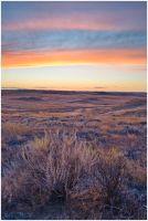 Pumpkin Creek Sunset by wyorev