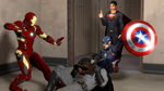 Batman V Iron Man V Captain America: Dawn of Wars by Hero-T