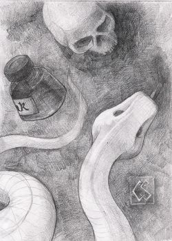 Skulo Snake and Inkbotle by 2equals8