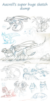 Aacrell's super huge sketch dump by aacrell