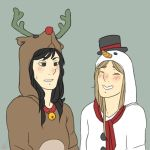 Christmas onesies by c-plaus