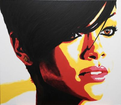 RIhanna popart Pop Art by kunstfoll