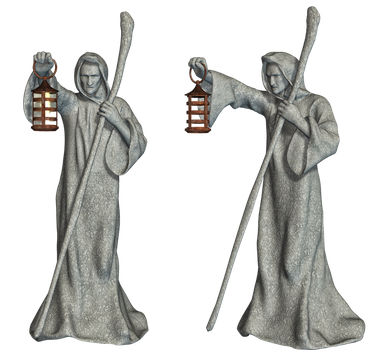 Statues 03 PNG Stock by Roy3D
