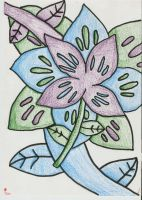 Mirroring Flowers by Ostria