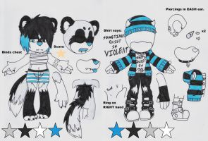 Vlad the Ferret Ref. by Sam-the-wolf147