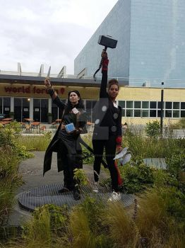animecon 2016 loki and thor by drakendonder