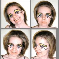 Face Painting - Eye Of Ra by amuletts