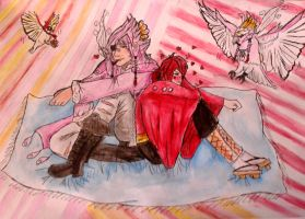 Tori and Beni - Lovey dovey love birds. by pokeketter