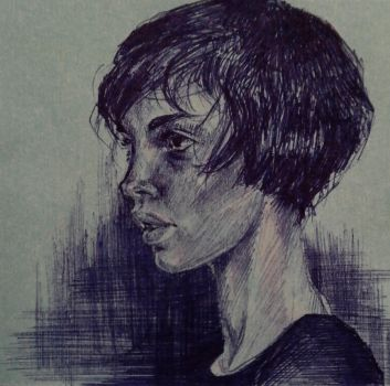 Stickynote portrait 3 by masktoblack