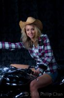 Cow Girl On Wheels by AkraruPhotography