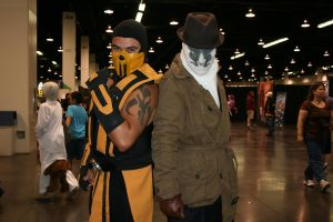 Scorpion and Rorschach by Barbie-H