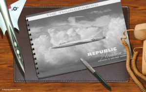 Republic AP-75 Thunderbird vintage desk top by Bispro