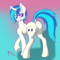 Electronic Music Horse Butt by Punk-Pegasus