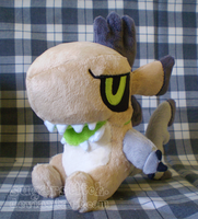 Fakemon: Scrapup Pokedoll by sugarstitch