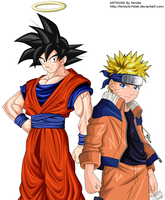 Goku and Naruto by Ferstyle-Fotek