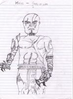 God Of War:  Kratos Sketch by Trent911