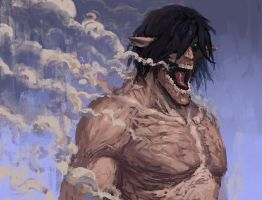 Eren Titan by EdwardDelandreArt