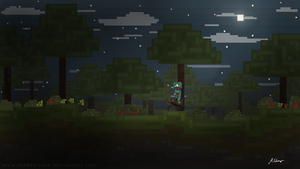 Forest at Night by MadsPixels