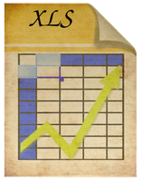 Steampunk xls spreadsheet file icon by pendragon1966