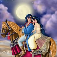 ALADDIN AND JAZMIN by FERNL