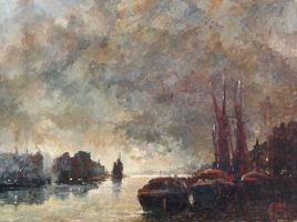 Dawn on the Thames by litka