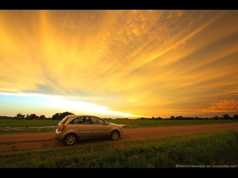Parked Under Painted Skies by FramedByNature