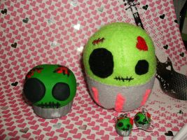Zombie Cupcakes Family by Wolfriderxangel