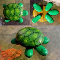 Painted stone turtle by Angi-Shy