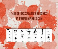 14 High Res Splatter Brushes by ormanclark