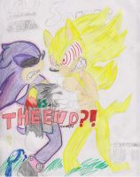 Super Sonic and Scourge(UNFINISHED!) by Fleetway-Sonic