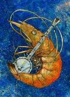 Shrimp a banjo by InnocenceBurning