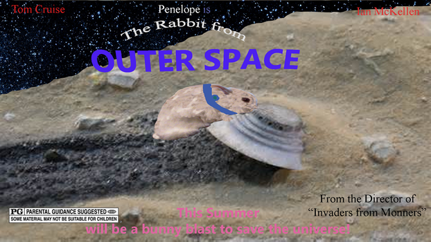 The Rabbit From Outer Space Movie Poster by cerealcam