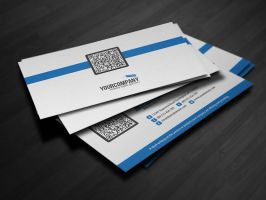 Corporate QR Code Business Card V3 by glenngoh