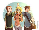 Harry, Gwen and Peter by blargberries