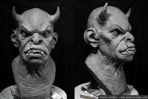 Demon bust by glaucolonghi