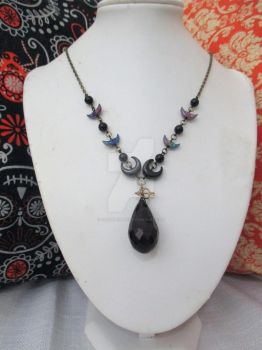 Many Moons Beaded charm Necklace by TanzenLilly