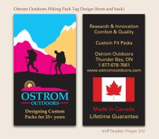 Ostrom Hiking Pack Tag Design by Wolf-Daughter