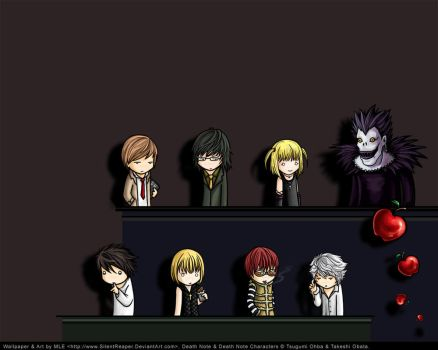 Death Note Chibi Wallpaper by SilentReaper