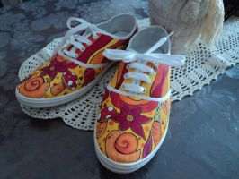 Commission shoes hot colour by Owlnuny