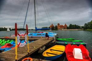 Boats And Castle by Rikitza