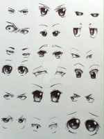 Eye sketche 2 by Crossoverdude