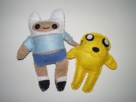 Adventure Time Plushies by kiddomerriweather