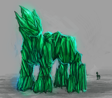 MLP emerald golem pony auction 32 CLOSED by ElkaArt