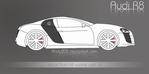 Audi R8 outline with .Ai by Andy202