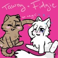 Tawnykit and Fidgetkit by TangledInInk