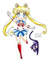 SD Sailor Moon by AnimeJanice