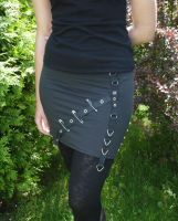 Punk and Bondage skirt by Estylissimo