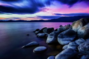 Splendid Tahoe January Evening. by sellsworth