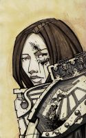 Portrait of a Sororitas by dForrest